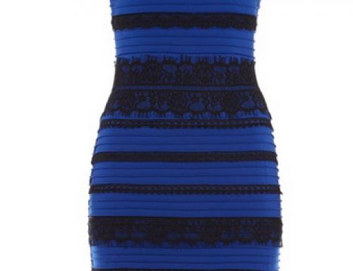 Qual a cor do vestido?